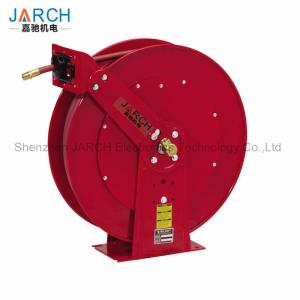 China Heavy Duty Retractable Hose Reel Dual Pedestal With Long Life Drive Spring on sale