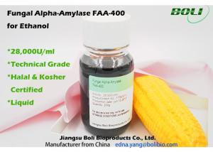 China 28000 U / ML  Fungal Alpha Amylase FAA - 400 , Biological Enzymes For Production Ethanol on sale