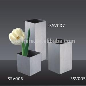China hot sale portable stainless steel planter flower vase on table top for room decoration on sale