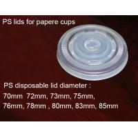China HIPS Flat Semi Clear Plastic Lids / Hot Paper Cup Lids Environmental Friendly on sale