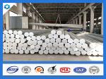 35FT 3mm Thick Q345 Galvanized Metal Pole Electric Steel Poles 500KGF Load