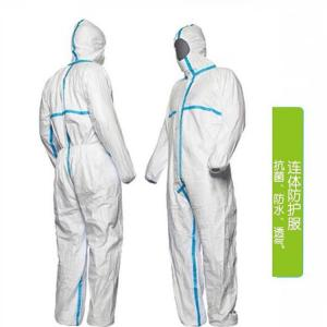China Anti Static Disposable Protective Coverall , Disposable Plastic Coveralls Penetration Resistance on sale