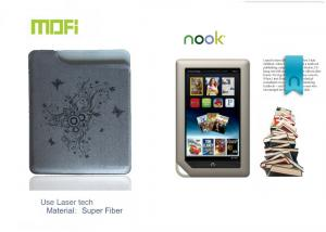 China Attractive Mofi Tablet Logo Laser Protective Leather Nook Case With Super Fiber on sale