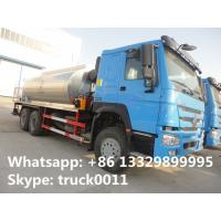 Good price factory direct sale 10 to 15 cbm HOWO 6*4 asphalst spraying truck, bitumen distributing truck for sale