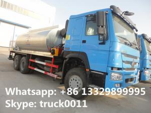 China Good price factory direct sale 10 to 15 cbm HOWO 6*4 asphalst spraying truck, bitumen distributing truck for sale on sale