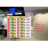 China 100% Genuine Microsoft windows 10 pro COA sticker 32 64 bit Systems FQC 08983 on sale