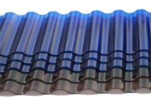 China Tinted Corrugated Plastic Sheets, Solar Polycarbonate Corrugated Roof Panel on sale