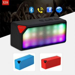 China Colorful LED lights ABS Material Mini X3 Wireless Bluetooth Speaker Luminous Audio on sale