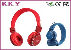 China Professional Red / Pink Cordless Stereo Headphones / Sports Headphones on sale