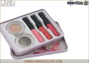 China Women Makeup Kit in Tin Box , Makeup Eyeshadow Palette and Lip Gloss Combined on sale