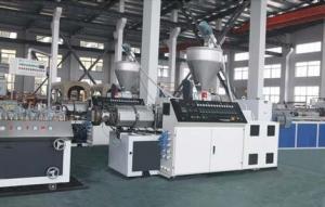 China Linha plástica da extrusão do perfil, maquinaria plástica automática completa da extrusão do perfil on sale