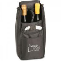 China Black Dobby Nylon Cooler Wine Bag on sale