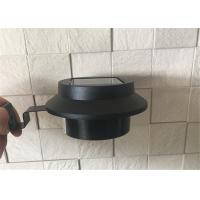High Lumen Outdoor Solar Gutter Led Lights 2PK Mounting Bracket Black Color