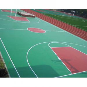 China Synthetic Outdoor Rubber Flooring, Workout Room FlooringWith Marking Line on sale