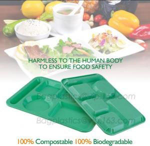 China fast food boxes custom logo printing, Compostable plastic food container, eco-product renewable 100% compostable PLA foo on sale