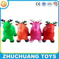 China colorful wholesale plastic inflatalbe animals cartoon deer music toy on sale