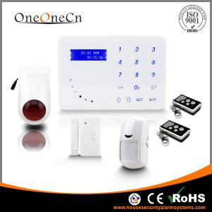 China Intelligent Touch Keypad GSM Wireless Security Alarm System With Tamper Alarm APP on sale