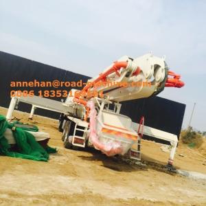China 37m Boom Type Concrete Pump Truck Concrete Boom Cement Pump Truck 37.4M Reach Height on sale