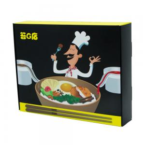 China Cheap green food paper packaging box black corrugated paper box on sale
