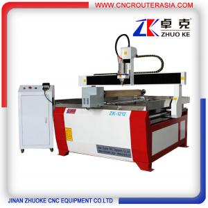 China DSP A18 Advertising Wood engraver cutter cnc router with rotary axis ZK-1212-3.2KW on sale