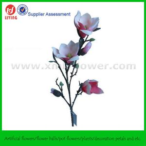 "Quality 33"" Decoration Silk Fabric Flower of Magnolia for sale"