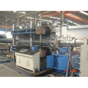 China Automatic PE / PVC Double Wall Corrugated Pipe Machine PLC control system on sale