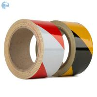 Red White Reflective Safety Warning Tape High Visibility Hazard Warning PET Acrylic