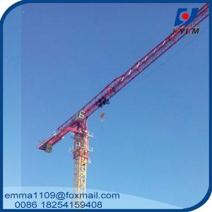 China Large 24t QTP8025 Electric Flat Top Tower Crane 80m Long Arm Cost on sale