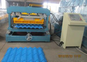 China Glazed Metal Tile Forming Speed 4m/min  Roof Tile Roll Forming Machine 380V/3Phase/50HZ on sale
