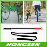 HS-D01 Running retractable China dog training bike leash walking bike dog leashes