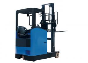 China Seat Type  Electric Pallet Stacker Of Bolt Fixed Back Cover With Protect Overhead on sale