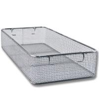 China Woven Mesh Stainless Steel Wire Basket Tray For Hospital Surgical Instrument on sale