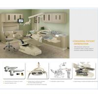ABS Plastic Fashion Dental Chair Unit With  180°Turning Cuspidor