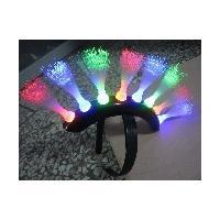 Corled Fiber Llights Up Bopper / Unique Spike Mohawk LED Headwear For Weddings, Graduation