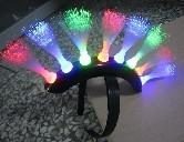 China Corled Fiber Llights Up Bopper / Unique Spike Mohawk LED Headwear For Weddings, Graduation on sale