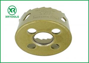 China Gold Round Bi Metal Hole Saw , HSS M42 Carbide Tipped Hole Saw With Built on sale
