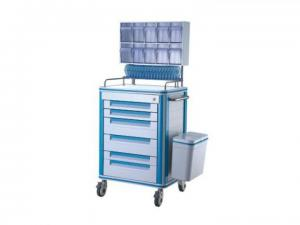 China Plastic Anesthesia Medical Push Cart With Mute Wheel Aluminum Alloy Frame 630*470*1500mm on sale