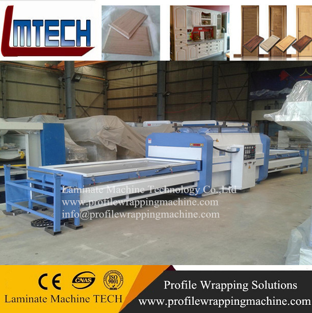 PVC door design vacuum membrane press machine