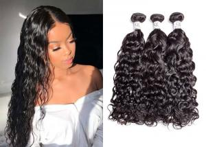 China 9A Bleached Remy 100 Human Hair Bundles With Closure No Chemical Process on sale