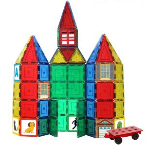 China New Strong Magnetic Construct Pieces, MAGNETIC TILE 100 Piece Super Set, Magnetic building blocks on sale