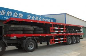 China flatbed semi trailers for sale/40ft flatbed container chassis on sale