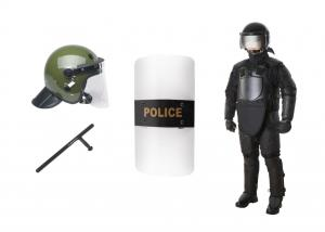 China Tactical Riot Control Gear , Anti Riot Equipment Body Armor With Helmet on sale