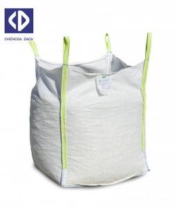 China 1000kg 2000kg Big FIBC Bulk Bags Discharge / Flat Bottom Moisture Proof on sale