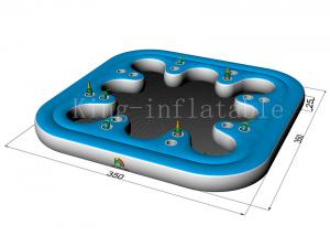 China Commercial Amusement Cup Hole Inflatable Water Toys Floating Sofa For Adults on sale