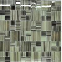 Grey green puzzel glass kitchen tiles