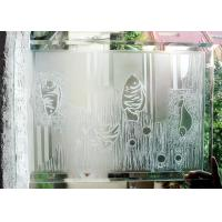 China Sturdy Acid Etched Glass Panels 240 * 4500 Cm Size Not Fragile OEM Service on sale