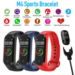 China M4 Smart Wristband Touch Screen Waterproof Sport Smartwatch Blood Pressure Heart Rate Monitor Bracelet on sale