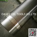 316L welded coupling deep well Johnson type water well screen pipes
