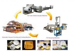 China Disposable Foam Plastic Plates Food Container Making Machine For Polystyrene on sale