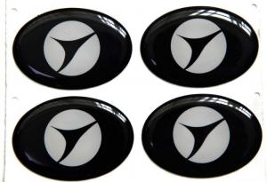 China Shiny Black Epoxy Resin Stickers Used in Thin-film Switch on sale
